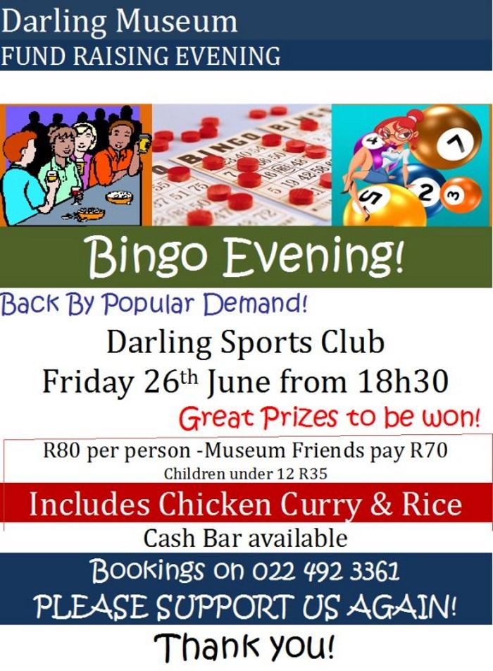 Darling Museum Bingo Night